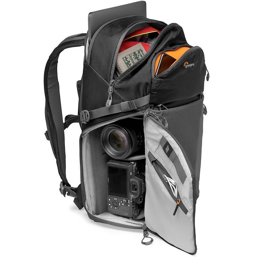 LOWE camera backpack lowepro photo active bp 300 lp37255 pww stuffed sonya7 - Lowepro Photo Active