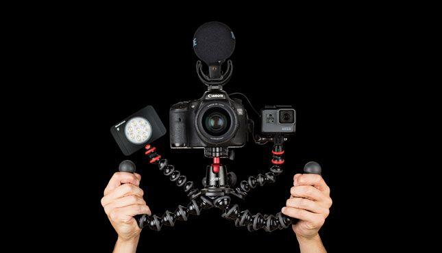 Gorillapod Rig handheld video - Joby GorillaPod Rigs
