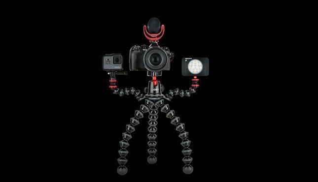 Gorillapod Rig mic light gopro - Joby GorillaPod Rigs